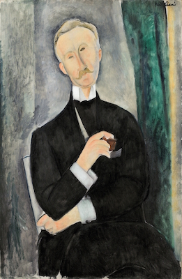 Amedeo Modigliani, Portrait de Roger Dutilleul, juin 1919. Collection particulière, États-Unis. Photo : Sotheby's / Art Digital Studio